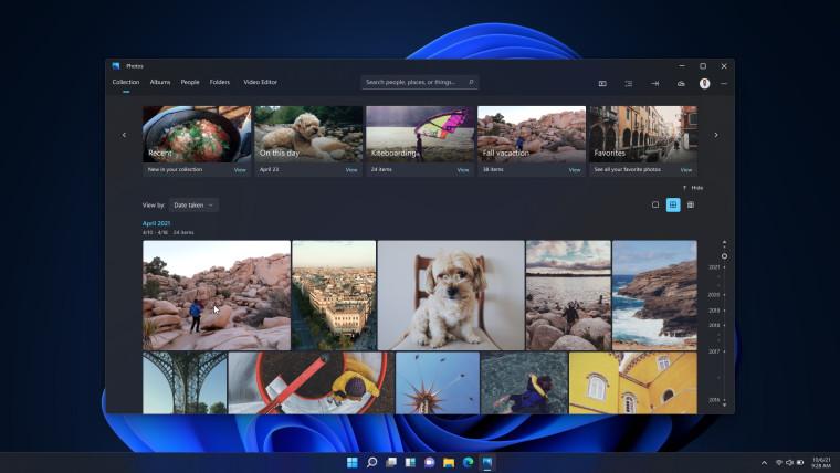 New Windows 11 Photos app in dark moder