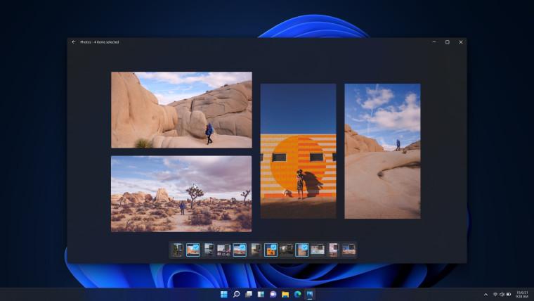 Multi-view window in Photos app Windows 11