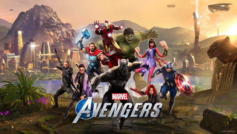 Marvels Avengers key art with Black Panther