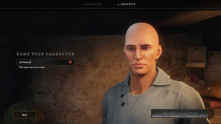 A likeness of Jeff Bezos in Amazon New World
