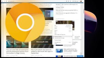 Chrome Windows 11 style rounded corner