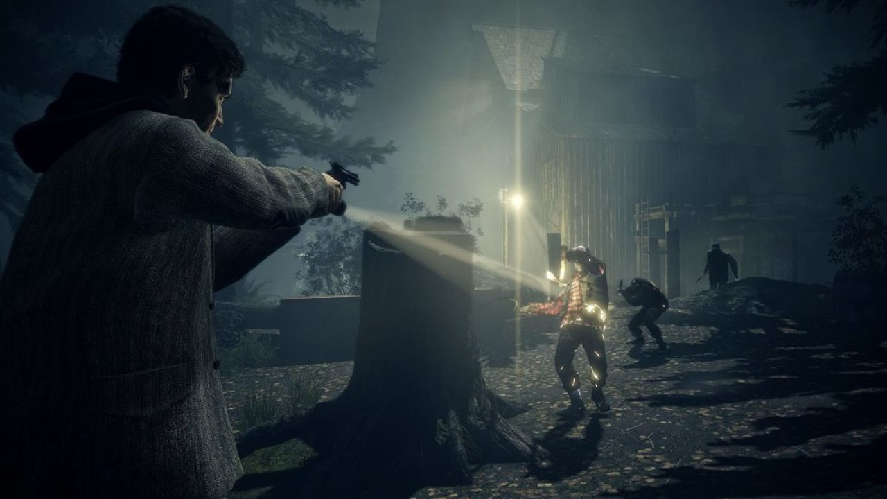 These are screenshots of Alan Wake Remastered