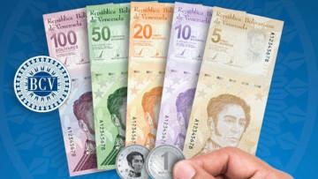 Digital Bolivar bank notes