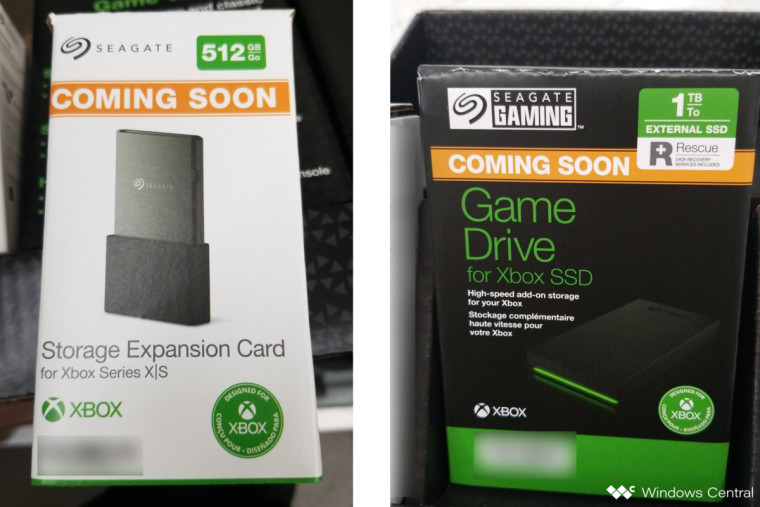 This is an image of the 512 GB Seagate Xbox Storage Expansion Card