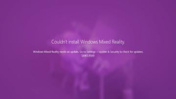 Screenshot showing Windows Mixed Reality error on Windows 11