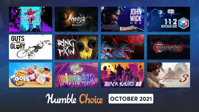 Humble Choice October 2021 games