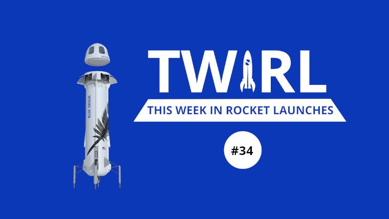 The TWIRL logo next to Blue Origin&039s New Shepard