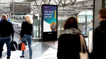 A billboard promoting accessibility by Microsoft
