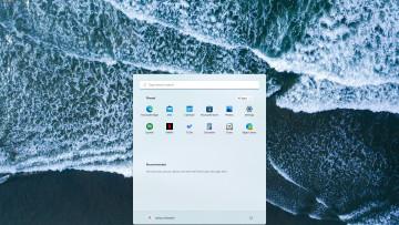 Windows 11 desktop with the Start Menu open