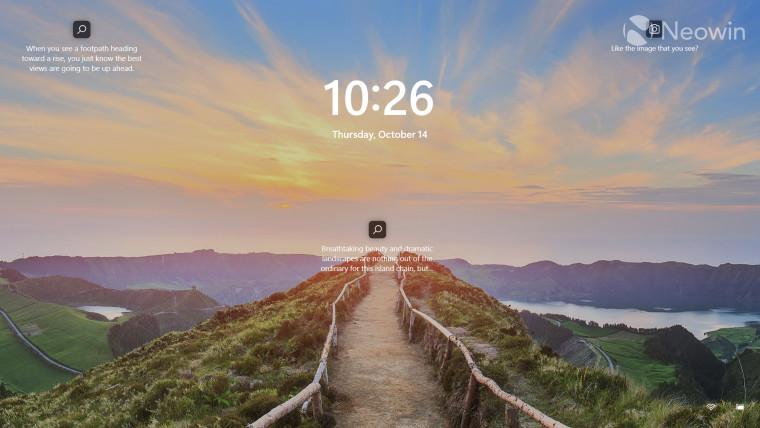 A screenshot of the Windows 11 lock screen mechanism and UI