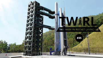 The TWIRL logo next to the Nuri rocket
