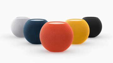 The HomePod mini in its new colours