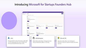 A screenshot of the landing page for Microsoft for Startups Founders Hub