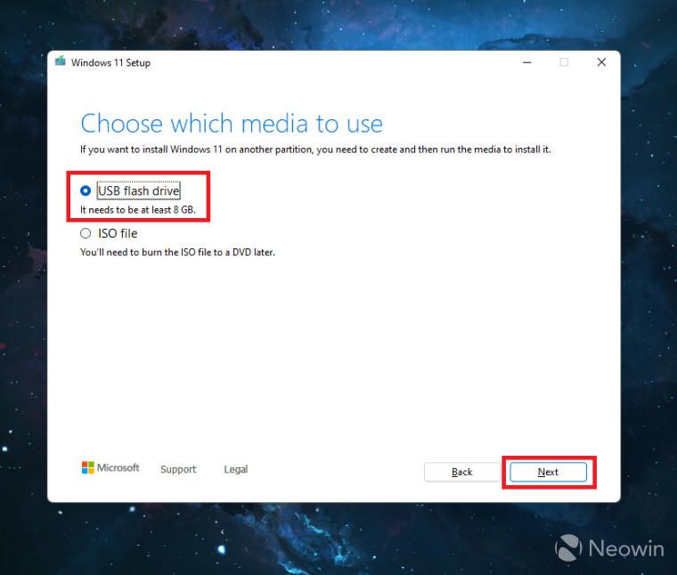 Unidad extraíble de Windows 11