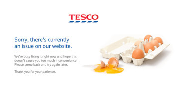 Tesco&039s website is experiencing an outage