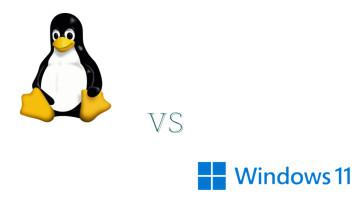 Tux Linux vs Windows 11