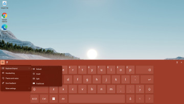 The touch keyboard of Windows 11