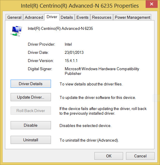 Intel Advanced-N 6235 Driver