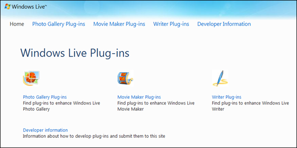 Windows Live Movie Maker Plugins