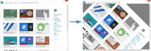 how to take off full screen on internet explorer