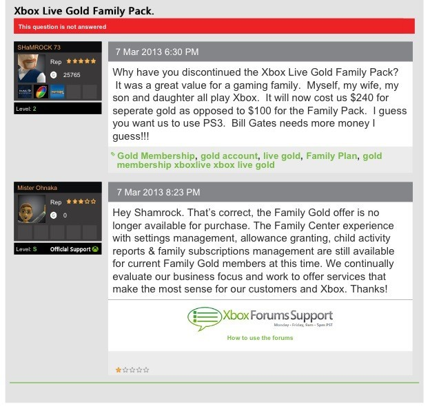 Microsoft Doing Away With Current Xbox Live Gold Family