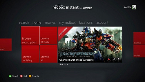 We knew that Redbox Instant would be coming to Xbox , it was specifically betrayed by a leak way back in November and the company has been pretty up front about the planned support. Now the app.