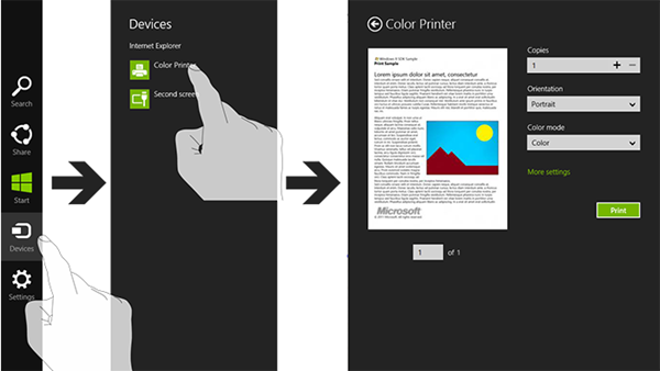 Windows 8 app printing features explained - Neowin