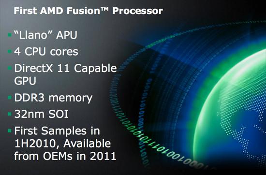 AMD Fusion Processor