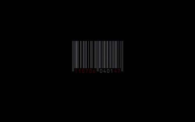 Agent 47's signature barcode, tattooed on the back of his head.