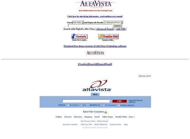 altavista search: