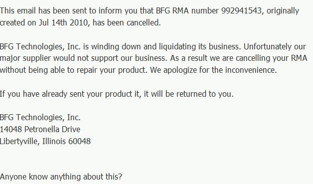 BFG Email