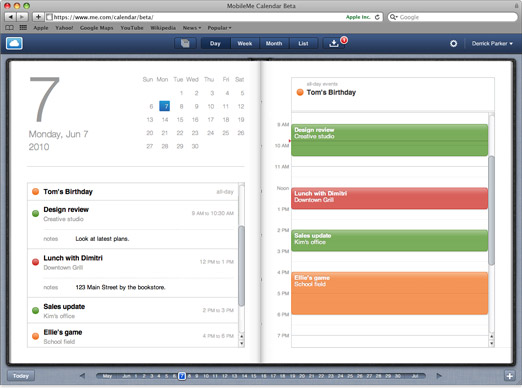 Apple's new MobileMe Calendar beta (Credit: Apple Inc.)