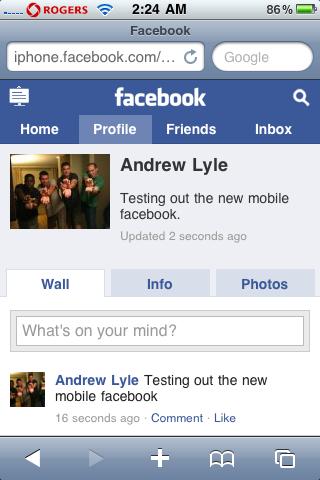 facebook mobile gets an update it solutions site ltd blog. Black Bedroom Furniture Sets. Home Design Ideas