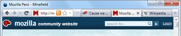 Firefox Custom Tab Bar