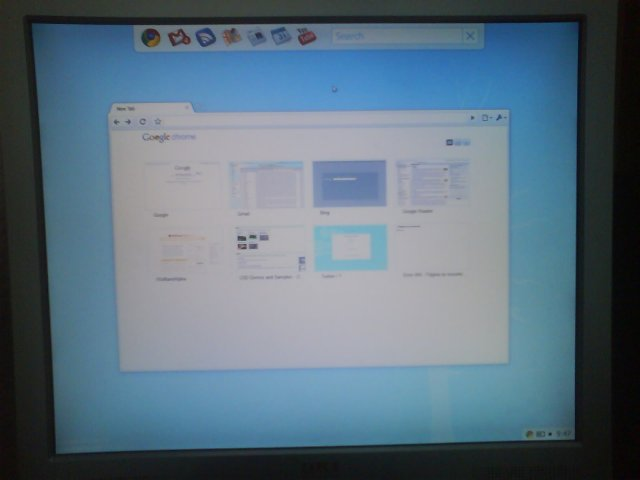 크롬 OS의 바탕화면