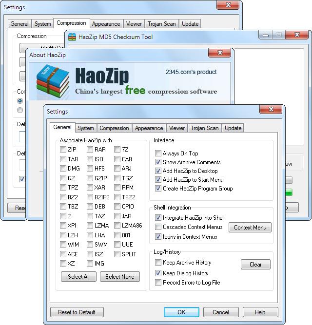 HaoZip 2.8 arşivleme programı HaoZip2