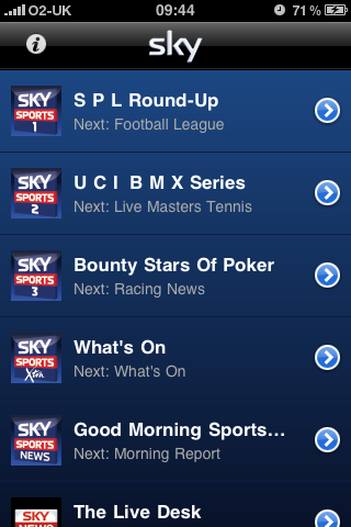 Sky launches Mobile TV app for iPhone [UK] - Neowin