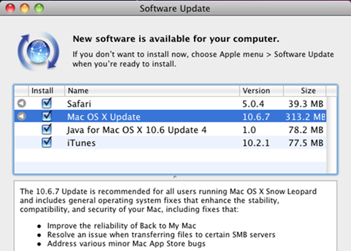 Apple releases Mac OS X v10 6 7 - Neowin