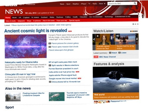 New design for the BBC News site
