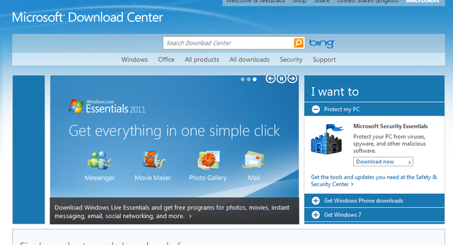 microsoft download center gets redesigned 1 billion hits a year