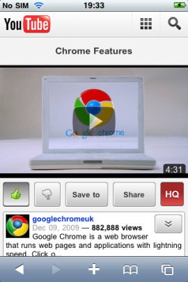 The new-look YouTube mobile web application