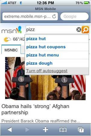 MSN Mobile - iPhone