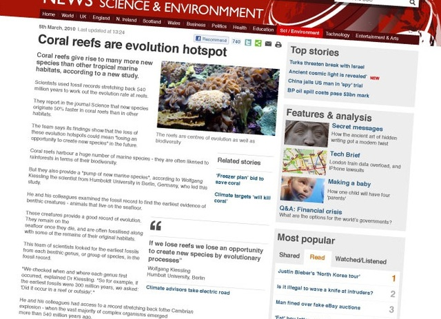New design for the BBC News site's articles