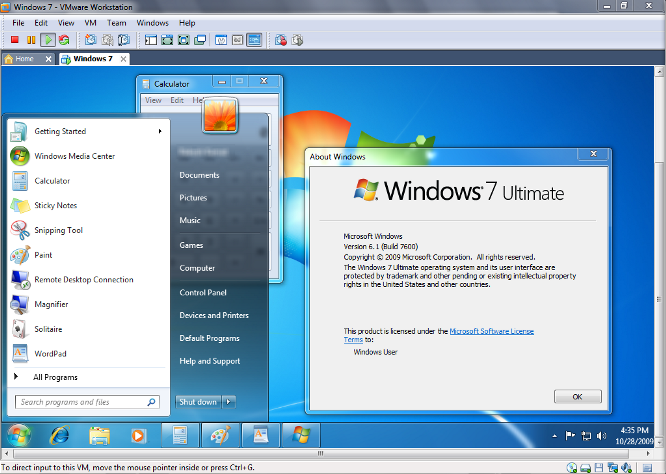 VMware Workstation 7 released with full Windows 7 support.