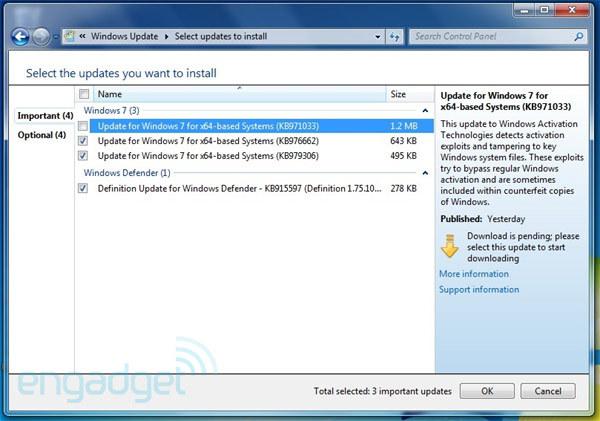Windows 7 Activation Tech. Update