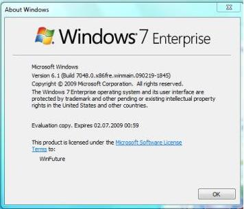 windows 7 build 7048