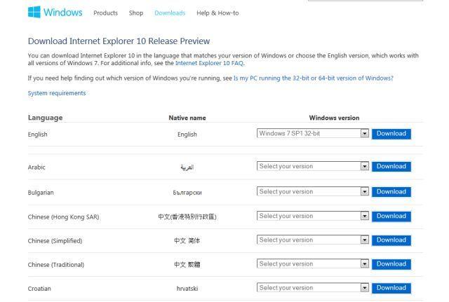 download internet explorer 10 for win7 32 bit