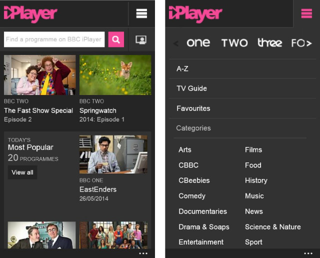 BBC iPlayer app on Windows Phone gets major update with live TV