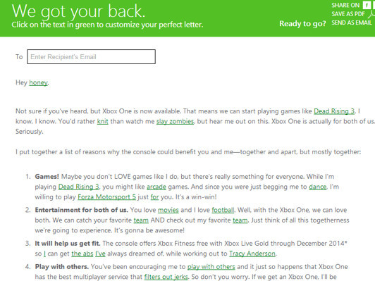 Microsoft changes online Xbox One form letter after getting