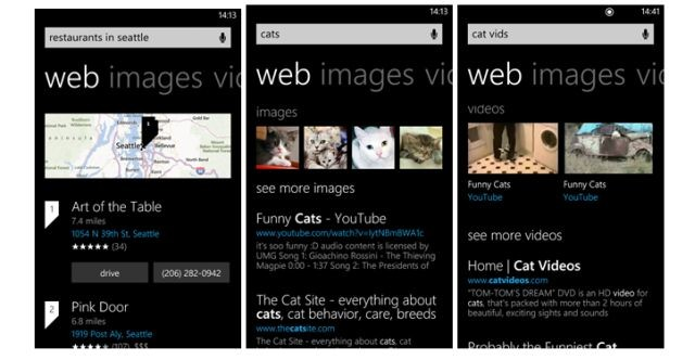 Windows Phone 8 Bing features updated, streamlined